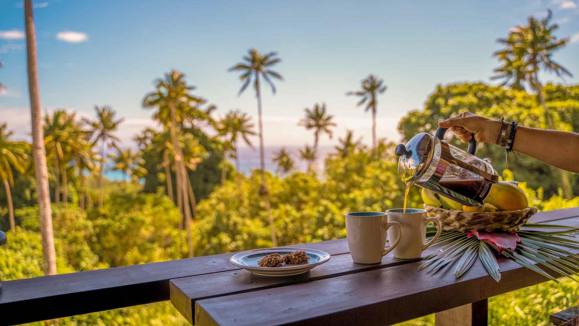 Wake up to coffee on the veranda